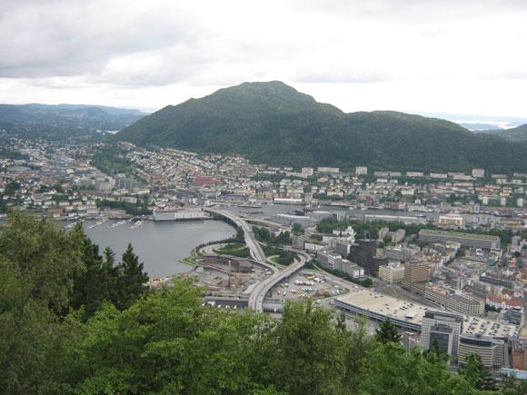 Norwegen: Bergen - Aussicht vom Floeyen 2