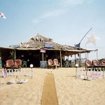 Shack in Candolim am Strand