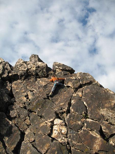 Klettern für Anfänger in den Eschbacher Klippen