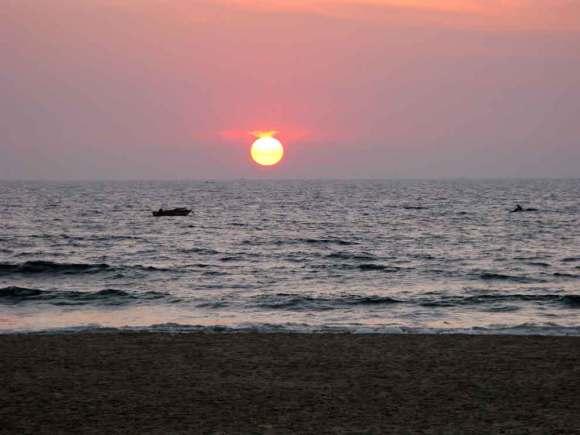 Goa Strand Sonnenuntergang