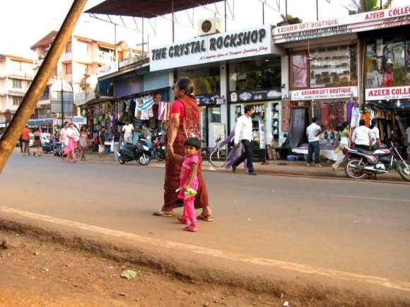 Straßenszene auf Goa
