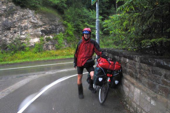 Alpenüberquerung Dauerregen Lechfall 2013