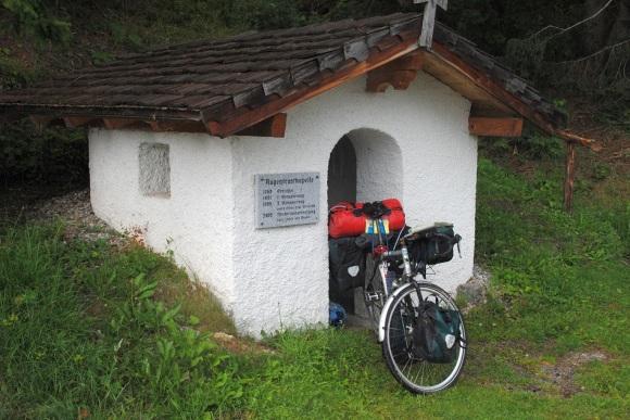 Transalp mit dem Fahrrad Augentrost-Kapelle Wald im Pinzgau 2013