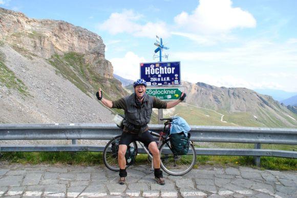 Hochtor, Passhöhe Grossglockner-Hochalpenstrasse Transalp mit dem Fahrrad 2013