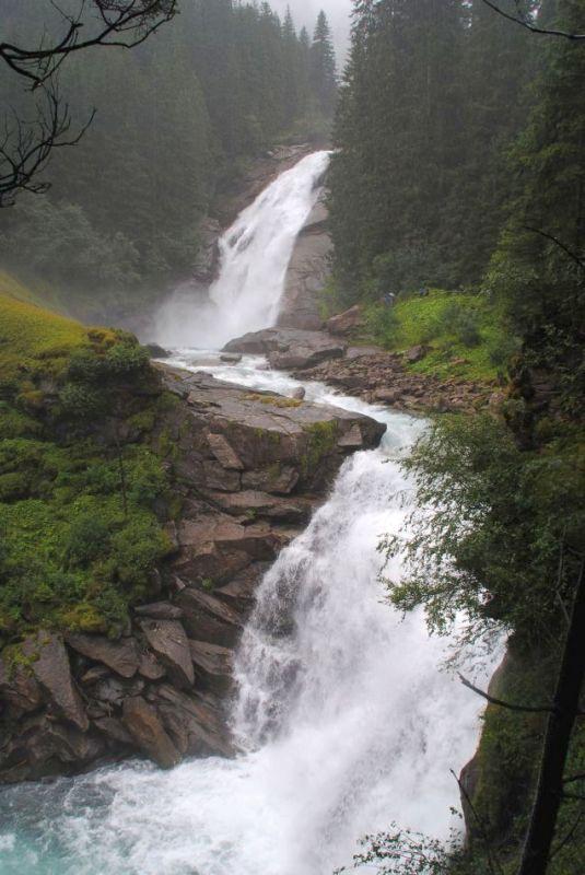 Krimml-Wasserfälle Pinzgau, Transalp mit dem Fahrrad 2013