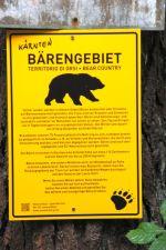 Bärenwarnung,Gailtal-Radweg,Kärnten