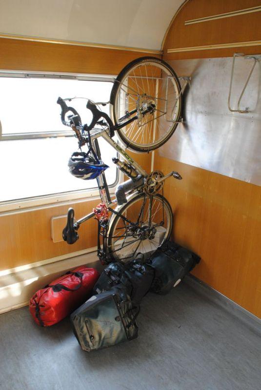 Fahrradabteil, slowenische Staatsbahn, Heimreise 2013
