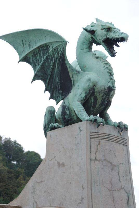 Ljubljana,Drachen,Slowenien