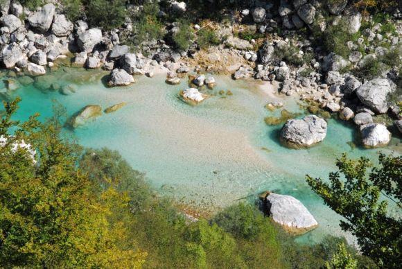 Smaragfarbene Soca, Slowenien