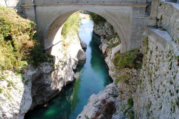 Soca bei Kobarid, Socatal, Smaragdroute, Emerald-Route, Transalp