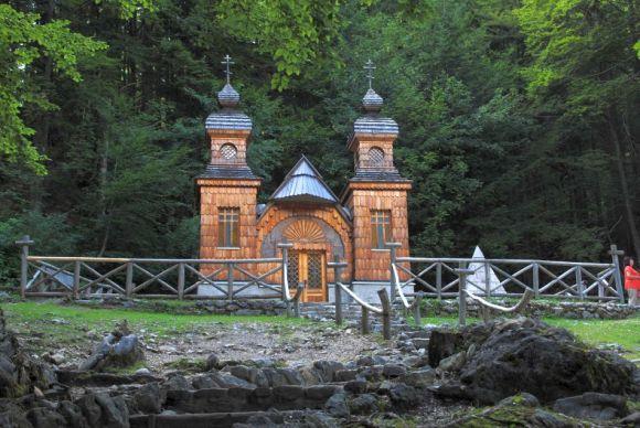 Russische Kapelle, Vrsic-Pass,Triglav,Julische Alpen,Transalp mit dem Fahrrad