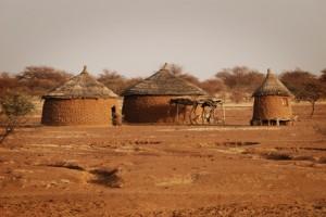 Hütten in Lobaya