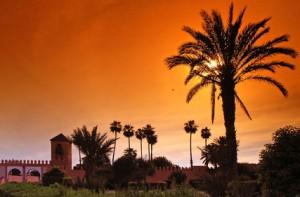 Ein traumhafter Sonnenuntergang in Marokko