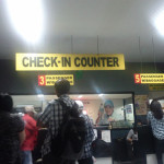 Check-In Counter bei der Fähre in Cebu