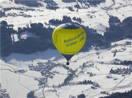 Ballonfahren über Bayern
