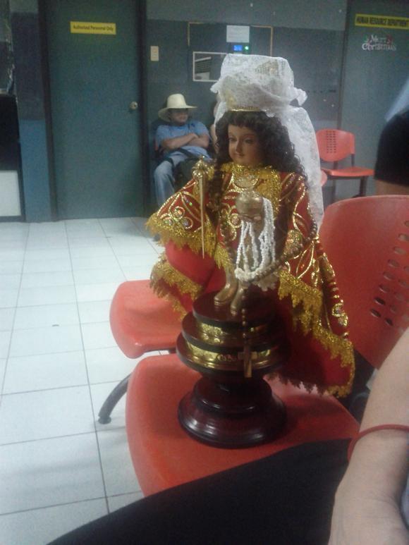 Figur von Santo Nino, dem Heiligen des Sinulog Festivals in Cebu